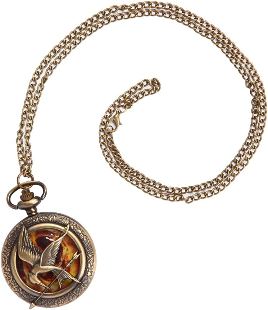 Bioworld Hunger Games Mockingjay Watch Necklace - ST