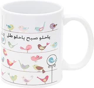 اكواب قهوة سيراميك , متعدد الالوان , RAFMG-010