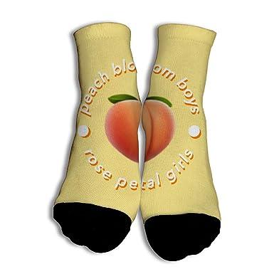 Amazon.com: Calcetines de algodón color amarillo melocotón ...