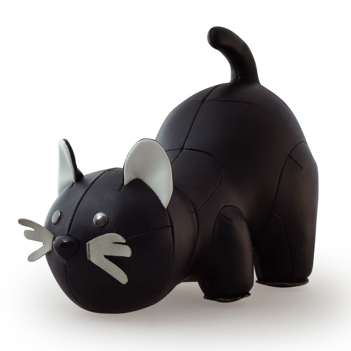 Zuny Cat Animal Bookend - Black