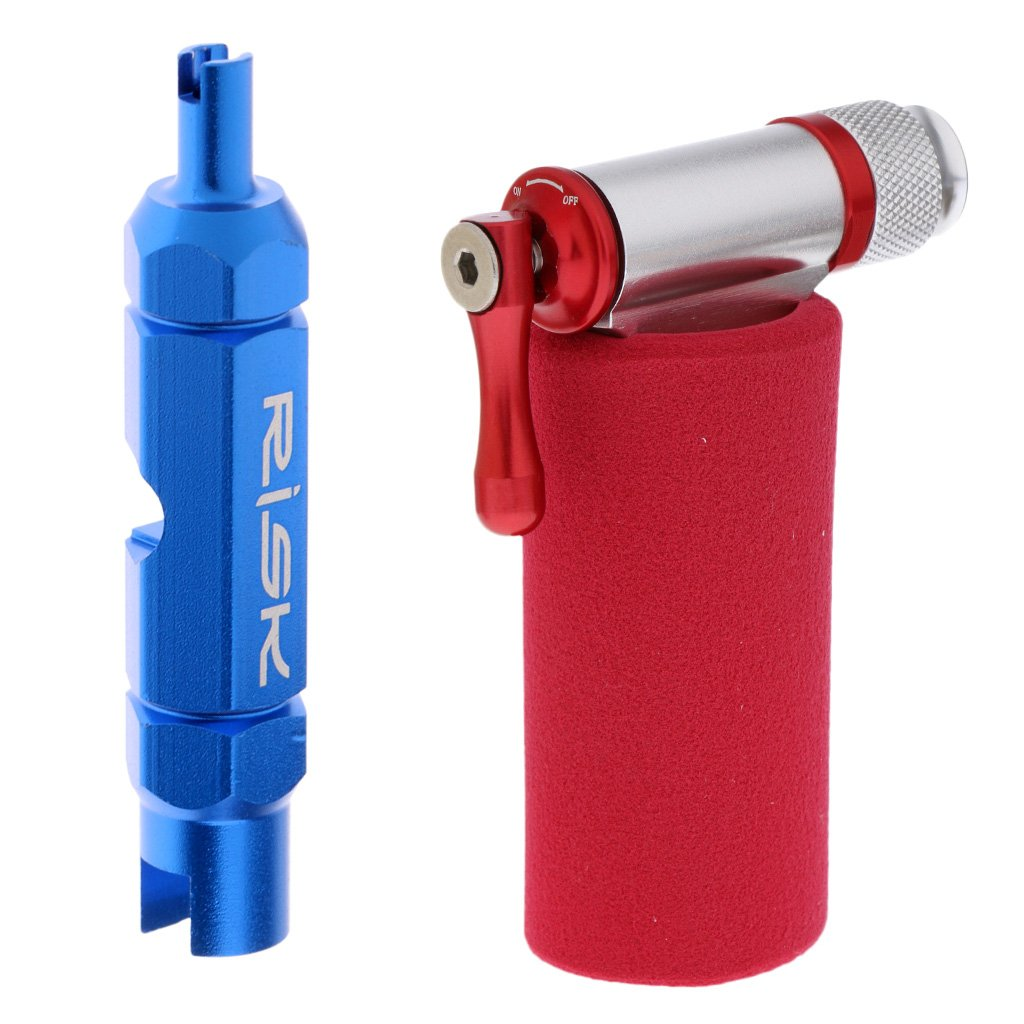 MagiDeal Bike Bicycle Air Pump CO2 Inflator Head + Valve Core Extractor Remover Tool