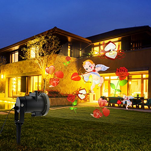 Holiday Light Projector,Sanmersen LED Projector Lighting Landscape Spotlight Upgrade 16PCS Pattern Remote and IP65 Waterproof Xmas Projector Landscape Lighting Lamp for Christmas Valentines Party Dec