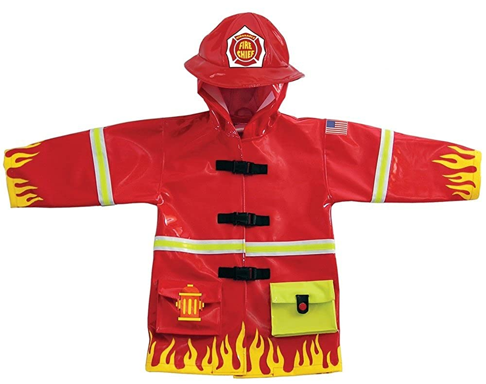 Kidorable Kids Fireman Raincoat (Extra Small (70-76cm 12-18 months)) My First