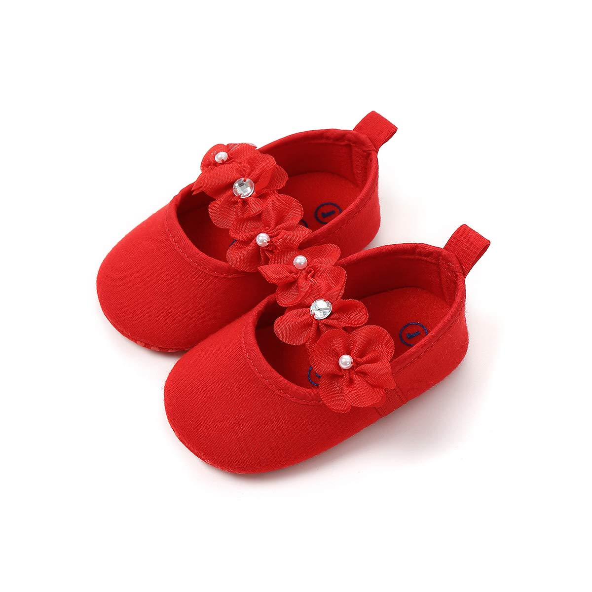 Sabe Baby Girls Floral Summer Dress Wedding Shoes Non-Slip Soft Leather Sole Sandals Elegant Formal 6-12 Months