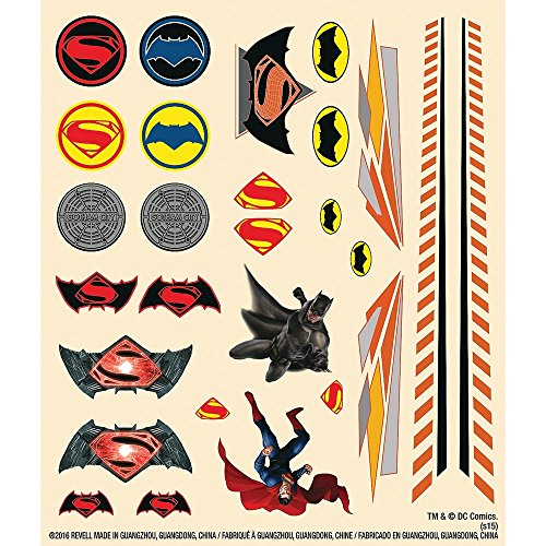 Revell Pinewood Derby Batman Dawn of Justice Peel/Stick Decal Sheet
