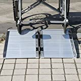 GHP Aluminum alloy 600lbs Capacity Mobility Wheelchair Threshold Ramp