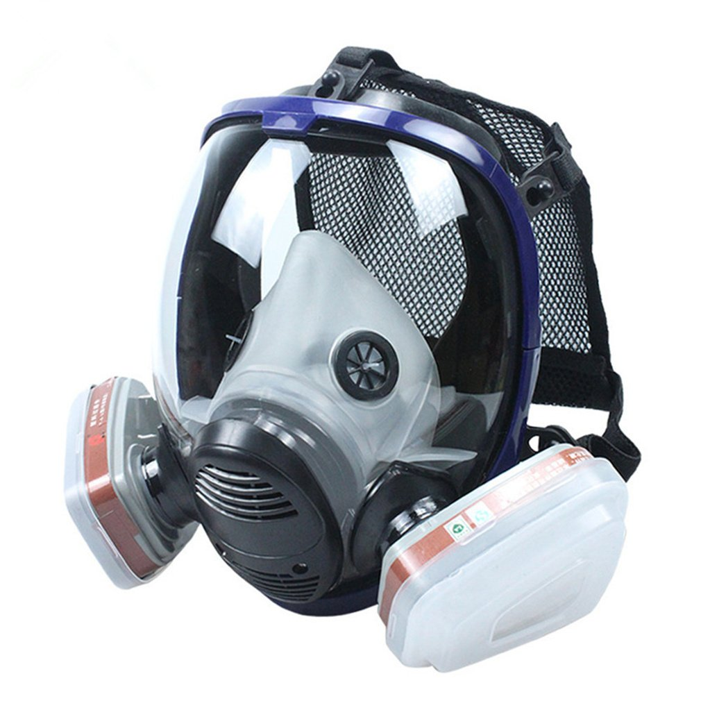 REBUNE 7 In 1 Set Full Face Gas Mask Full Facepiece Respirator For Painting Spraying Protection Tool by REBUNE (Image #3)