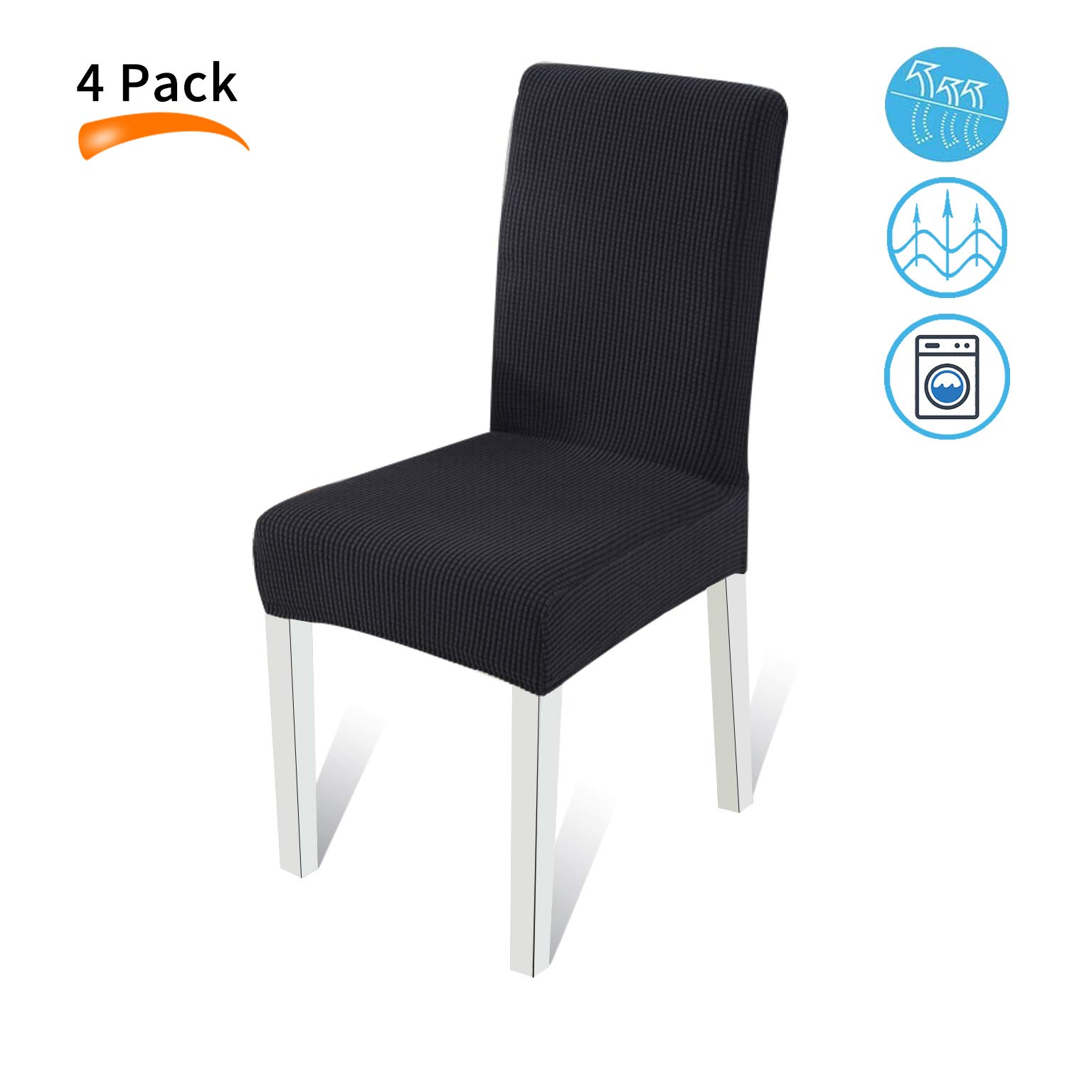 Dining Chair Covers Parson Stretch Removable Washable Room Slipcovers Parsons Slipcover Seat For