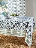 magnificent formal garden design Moonlit Taj ~ Elegant Floral Turquoise Indian Table Cloths 70x90