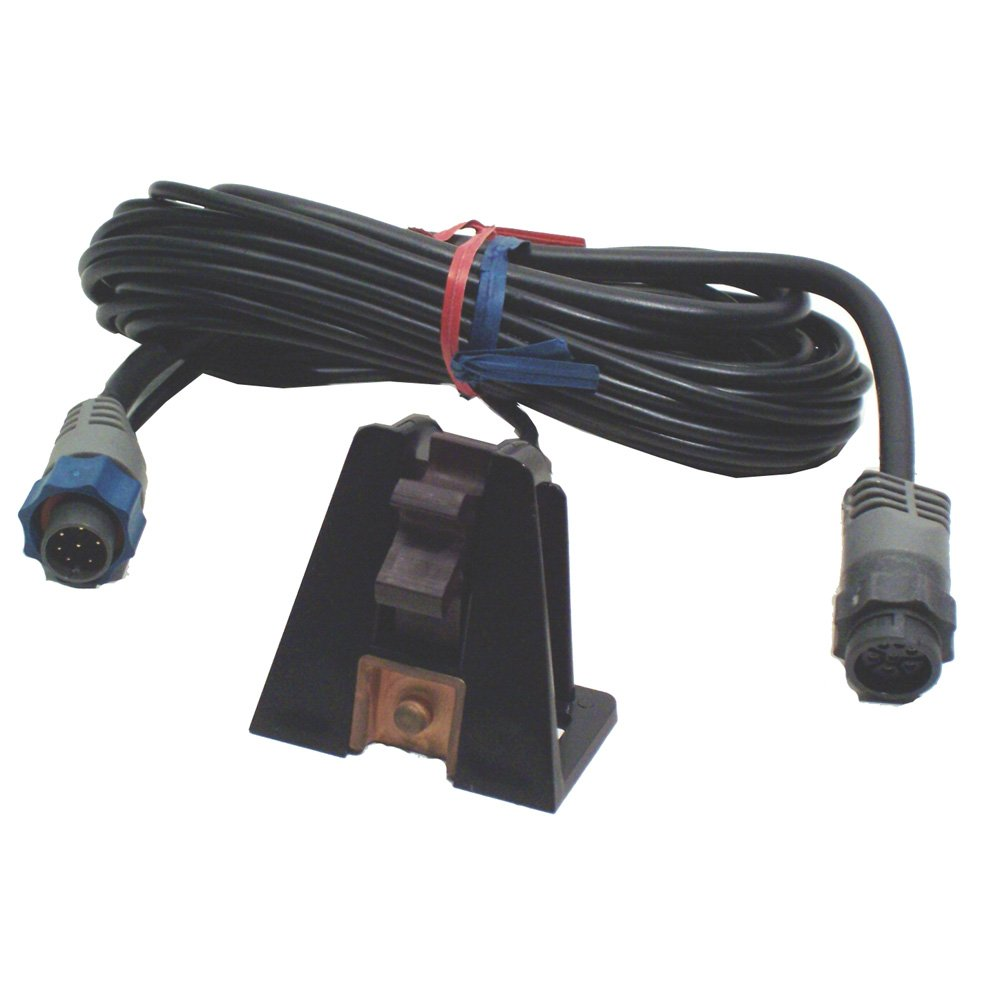 Lowrance ST-TBL Transom-Mount paddlewheel Speed/Temp Sensor with Blue Connector (Non-networked) by Lowrance