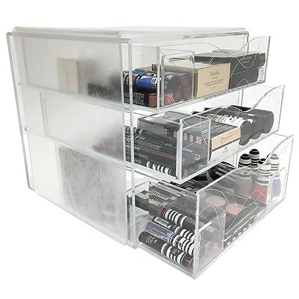 Amazon Com Clear Makeup Box Cosmetics Acrylic Organizer With