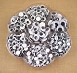 900pcs Mixed Size Wiggly Googly Eyes with Self-adhesive DIY Scrapbooking crafts