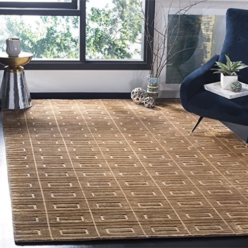 Safavieh Mirage Collection MIR523D Hand-Knotted Camel Wool Area Rug (8' x 10') - Hand Knotted Camel
