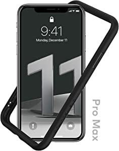 RhinoShield Bumper Case Compatible with [iPhone 11 Pro Max]   CrashGuard NX - Shock Absorbent Slim Design Protective Cover 3.5M / 11ft Drop Protection - Black