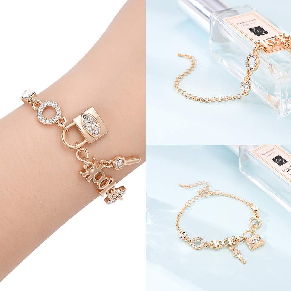 Lanyan Bracelet for Girls,Link Bracelet for Kids,Fashion Jewelry Bracelets for Women