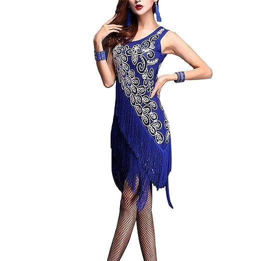 Vestidos de baile de las mujeres, Mujer dama flor de lentejuelas ...