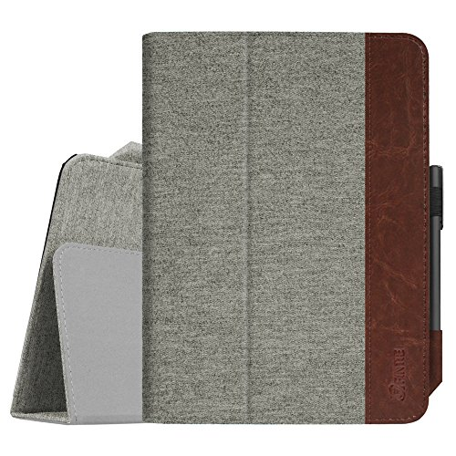Fintie Folio Case for Samsung Galaxy Tab S3 9.7, [Corner Protection] Premium PU Leather Stand Cover with S Pen Protective Holder Auto Sleep/Wake for Tab S3 9.7 (SM-T820/T825/T827), Denim Grey