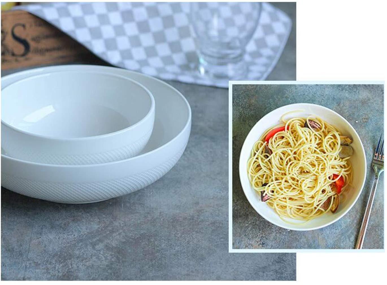 Tazón de ramen blanco puro del estilo japonés Cuenco redondo de cerámica Cuenco redondo lindo Cereal de avena japonés Tazones de sopa de fideos Cuenco ...