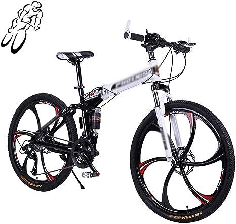 STRTG Montar al Aire Libre Bicicleta Plegable,Unisex Adulto Bicicleta de montaña Plegado,Marco De Acero De Alto Carbono,26 Pulgadas 21 Velocidad: Amazon.es: Deportes y aire libre