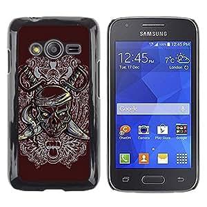Be Good Phone Accessory // Dura Cáscara cubierta Protectora Caso Carcasa Funda de Protección para Samsung Galaxy Ace 4 G313 SM-G313F // Pirate Skull & Swords Crest