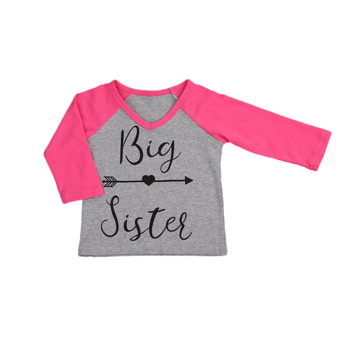 Moore Big Little Sister Toddler Baby Girl Long Sleeve T-Shirt Tops