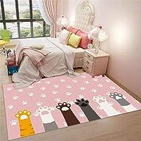RUGMRZ kontorsstol matta för matta rosa matta tecknad stil söt katt tass mönster mjuk matta halkskydd marinblå mattor…