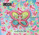 "LANG – 2018, 365 Daily Thoughts Box Calendar – ""Be Good To Yourself"", Artwork by Eliza Todd – 2018, Daily Inspirational Quotes in Tear-Off Format, 3.4″ x 3.3″ x 1.6″"