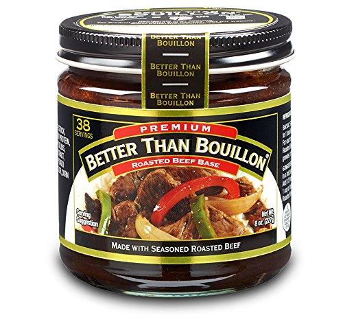 Better Than Bouillon Premium Roasted Beef Base, 8.0 OZ (1 Jar) Beef Bouillon Gravy
