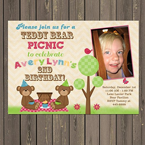 Amazon teddy bear picnic invitation teddy bear birthday party teddy bear picnic invitation teddy bear birthday party invitation gender neutral invite filmwisefo