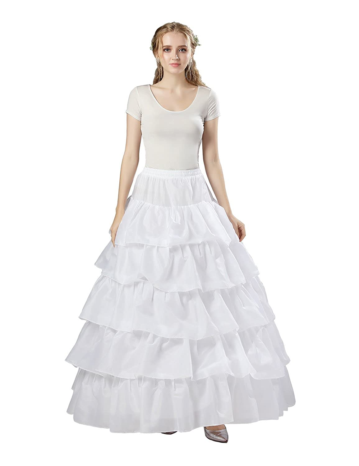Sarahbridal Women's Bridal Petticoat Wedding Dress Crinoline Slips Underskirts for Prom Evening Gowns White S12001 S12002WT