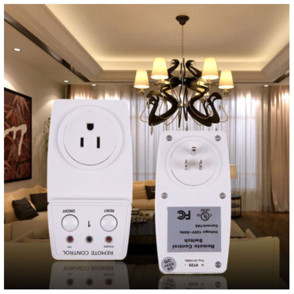 Wireless Appliance Remote Control Lamp Light Switch Wall Wiring Ceiling Fan With Two Switches