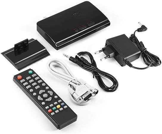 BTIHCEUOT Decodificador de TV AV a VGA, HDTV 1080P LCD Externo CRT Sintonizador VGA PC Monitor Receptor Altavoz para el hogar(Enchufe de la UE): Amazon.es: Electrónica