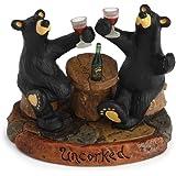 "Bearfoots ""Uncorked"" Figurine By Demdaco"