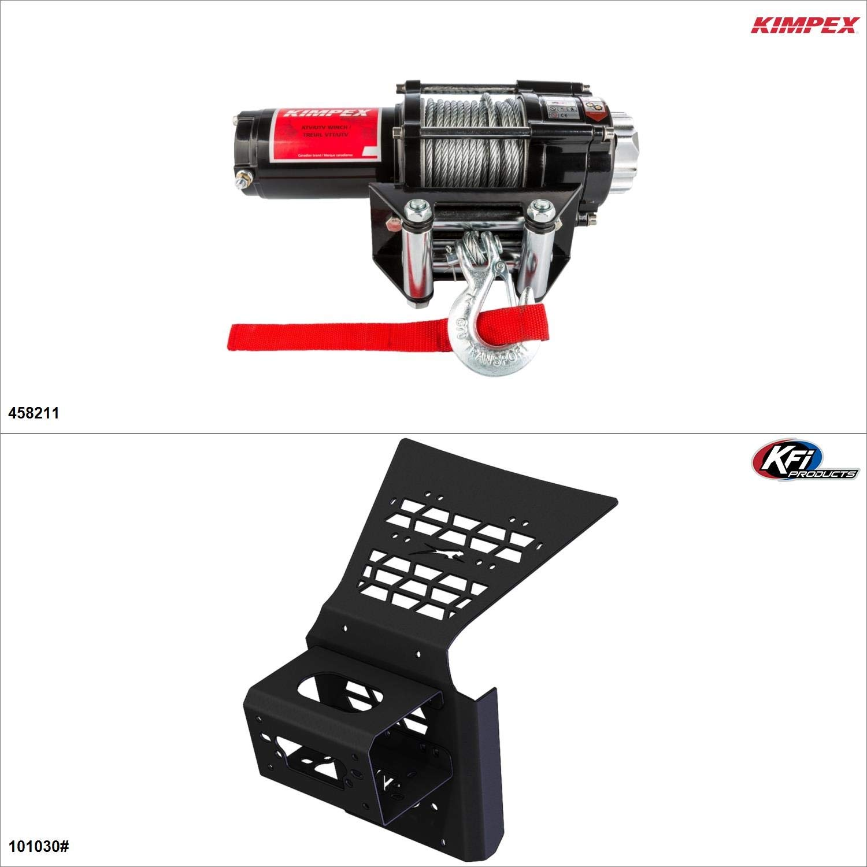 Kimpex 3500 lb Winch Kit - Steel, Arctic Cat Wildcat 4X 1000 2015-17