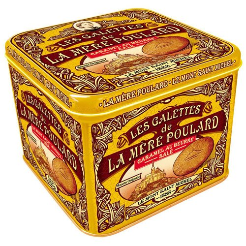 Galettes Caramel de La Mère Poulard, französisches Gebäck mit gesalzenem Karamell in Schmuckdose, 500g