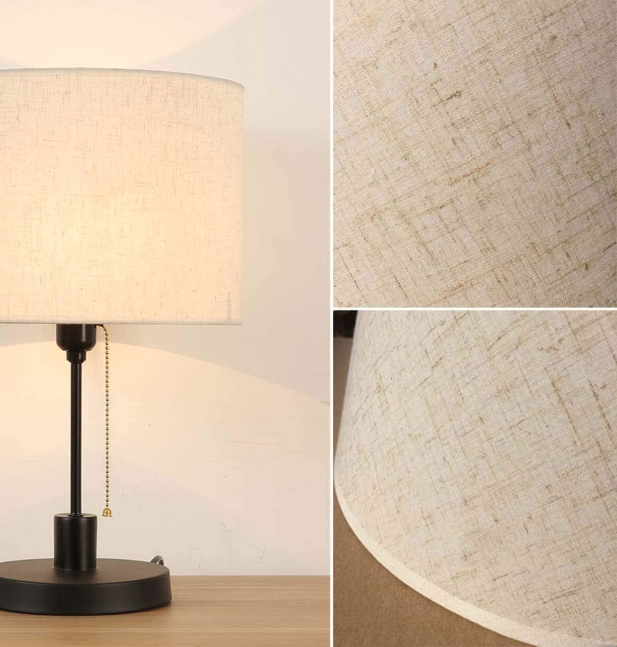 Bedside-Schreibtisch-Licht Pendelleuchte Stehleuchte Drum Light Shade,Wei/ß,28 cm Speziell F/ür E27 ZHICH Handgemachte Leinen Strukturierter Stoff Zylindrische Lampshade