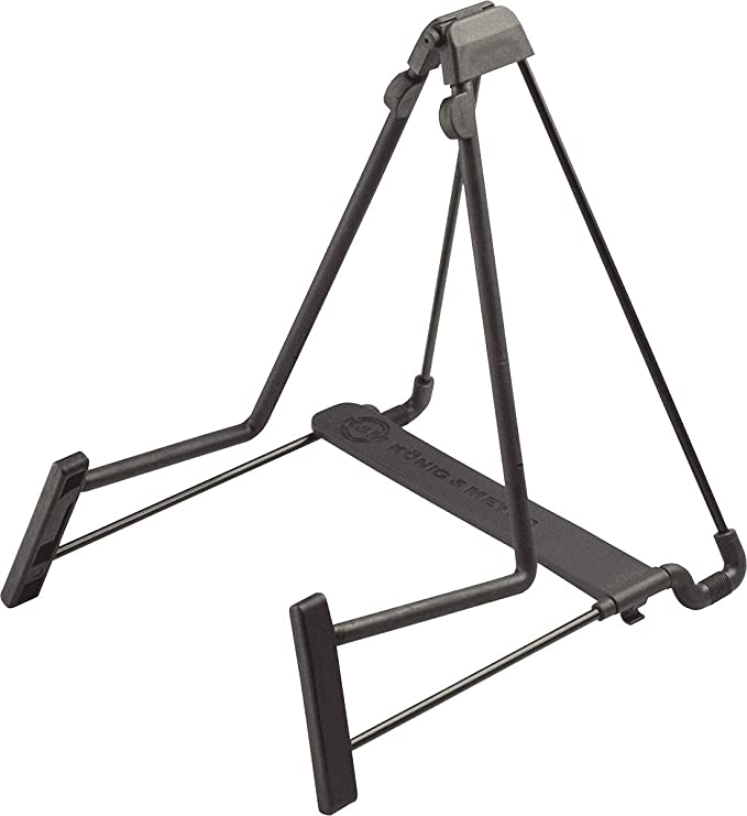 K&M Heli 2 Guitar Stand Folding A-Frame for Acoustic and Electric Guitars (17580B)