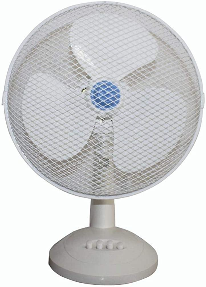 Chezaa Electrical 3-Speed Oscillating Desk Top Fan 12//9-Inch Cool Fan Desktop Fan Home Office.