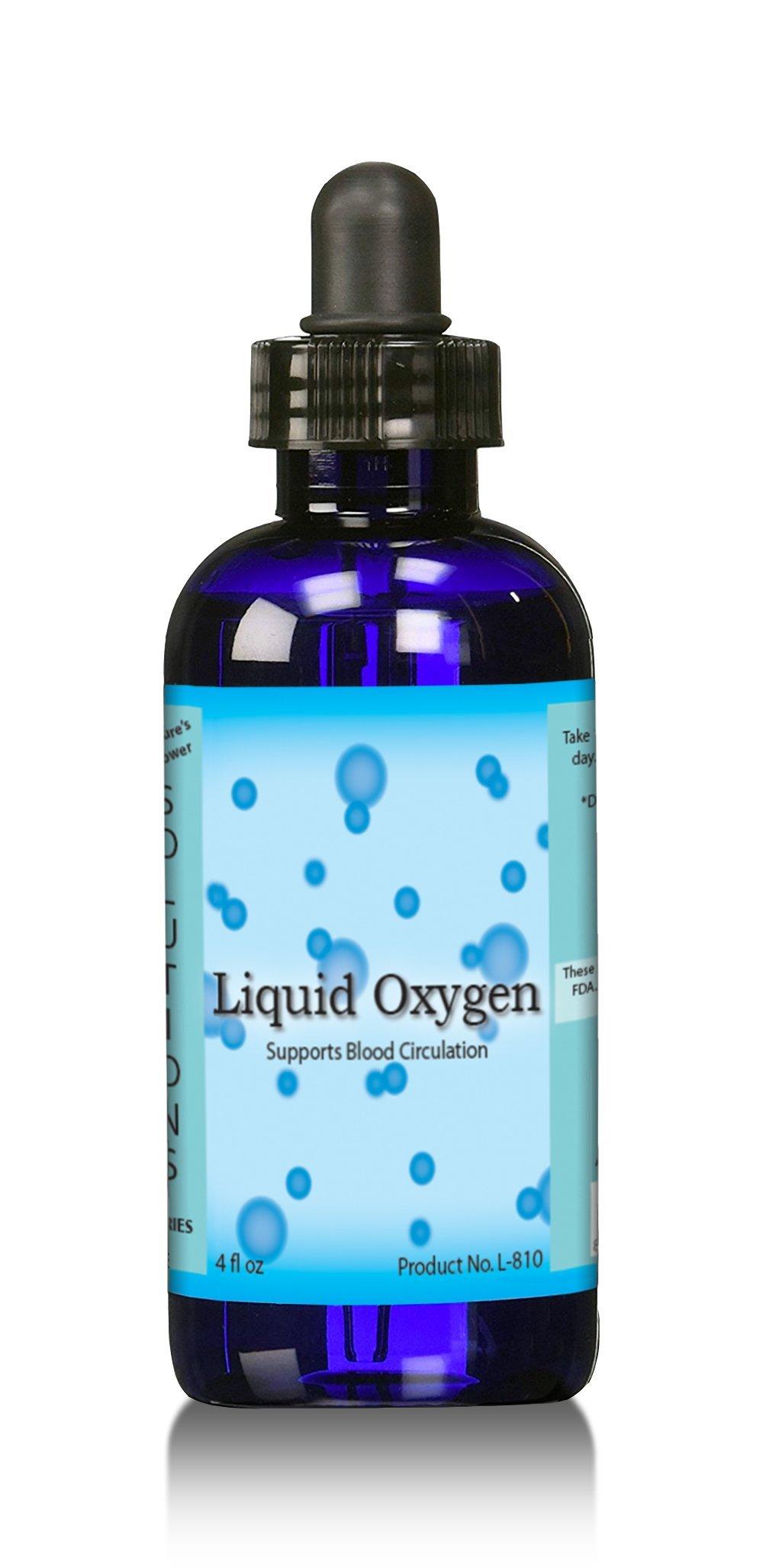 Liquid oxygen drops Stabilized liquid oxygen drops