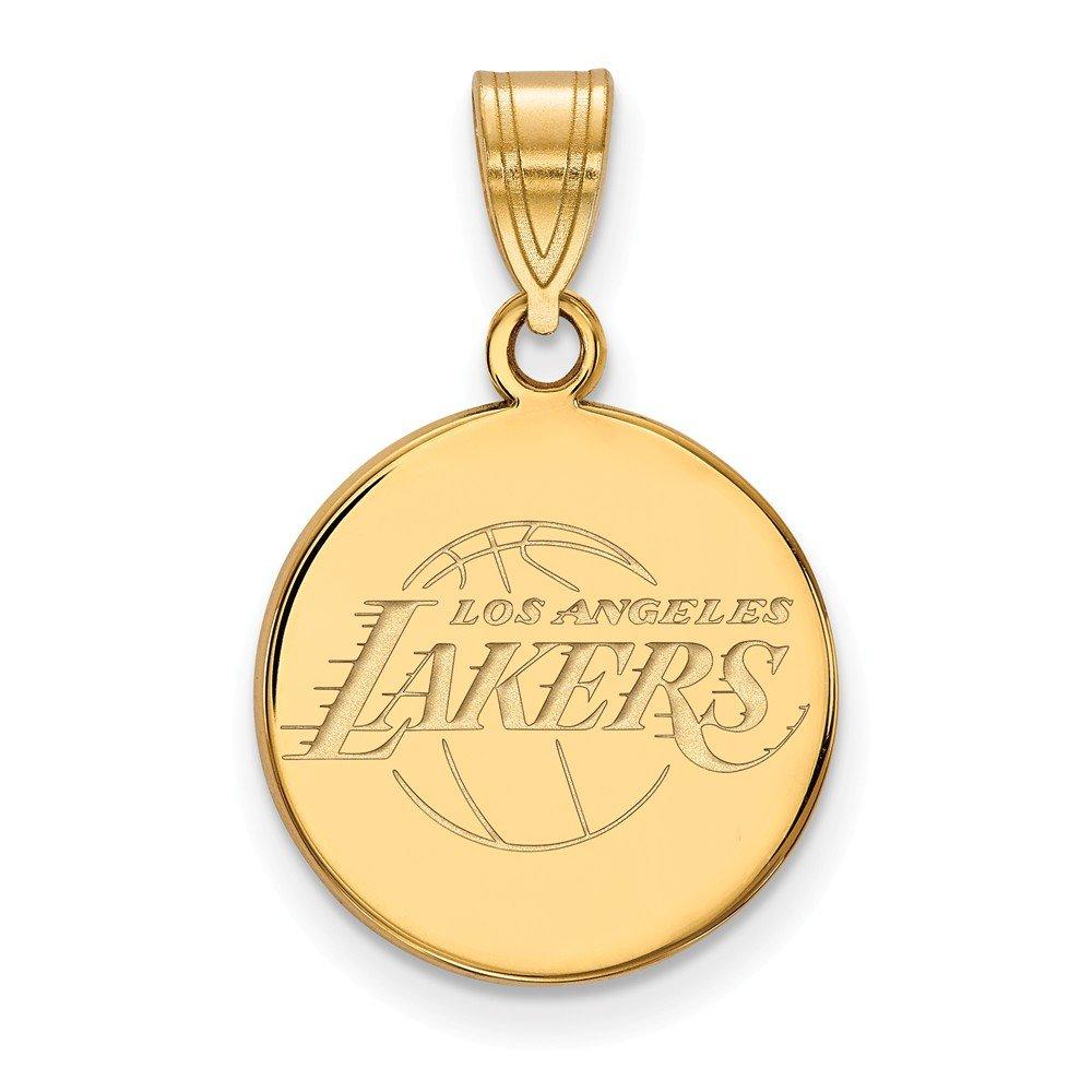 NBAロサンゼルスレイカーズMediumディスクペンダント14 Kイエローゴールド   B01LZQ1U1J