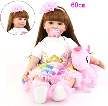 Dyujn Bambole Reborn 60cm 24inch di Alta qualità Reborn Toddler