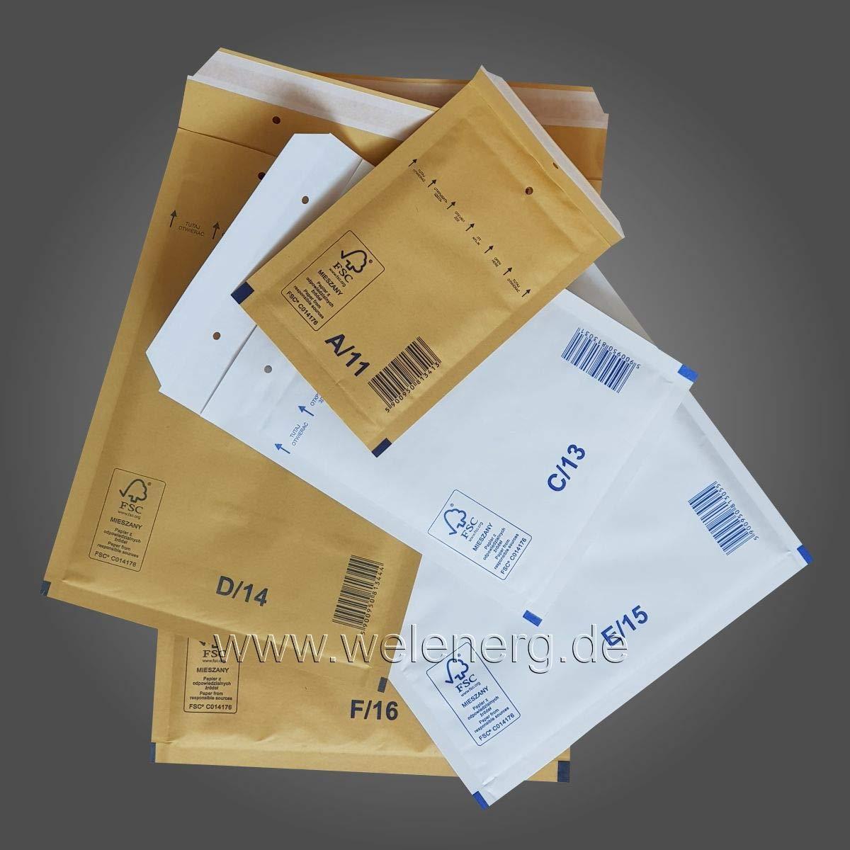 Wei/ß Frabe 100 ★ C3-170x225 mm Luftpolstervertaschen Versandtaschen Umschl/äge Luftpolsterumschl/äge Luftpolsterversandtaschen