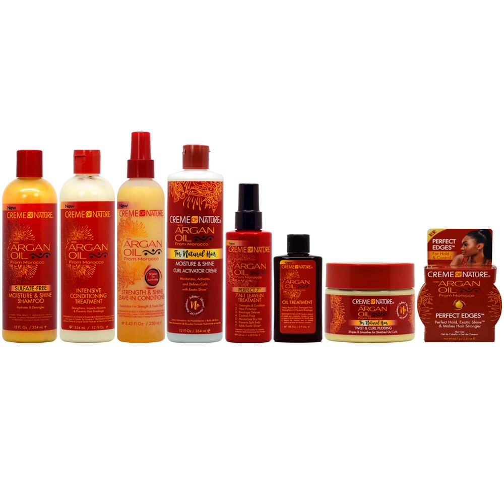 Creme of Nature Argan Oil for Natural Hair Care 8-piece Collection