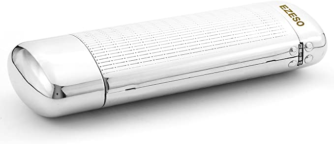 EZESO Estuche para gafas Funda Aluminio Plata: Amazon.es: Ropa y accesorios