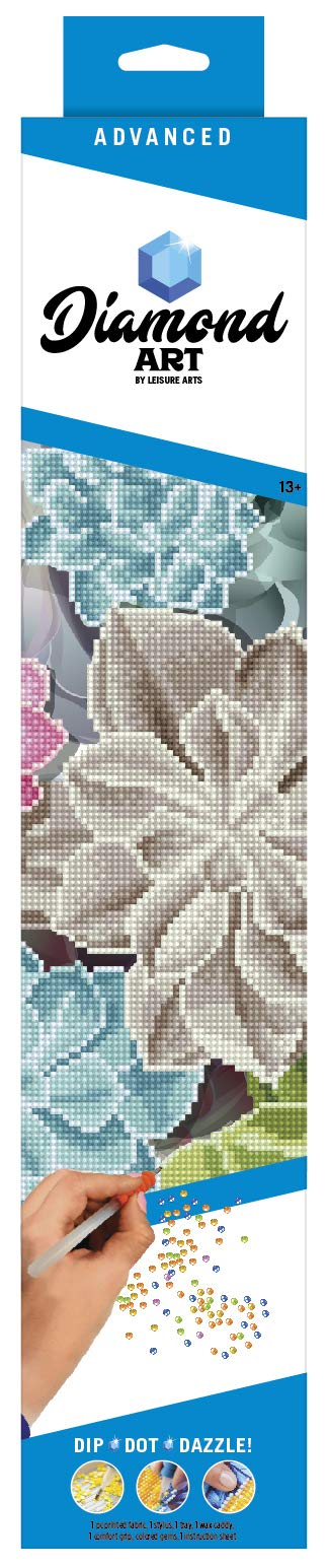 Leisure Arts-Diamond Art by Leisure Arts - Powered by Diamond Dotz - 5D DIY Diamond Painting Kit - Succulents Design