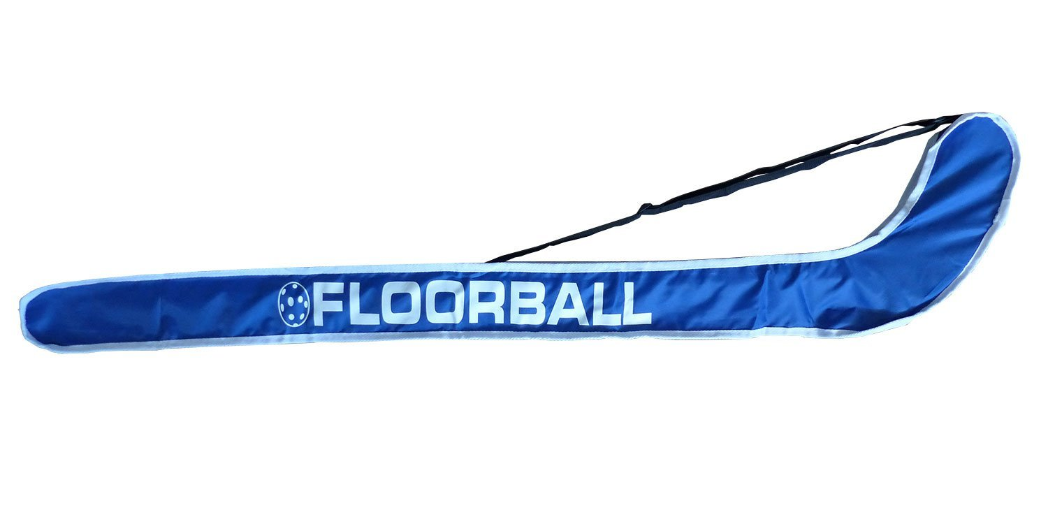 Floor Football/uni Étui de Striker Crosse de Hockey, Bleu/Blanc pour une raquette schäfer sport & fitness