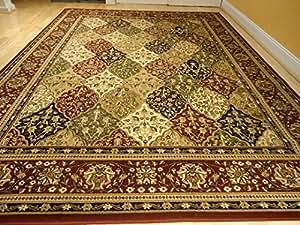 large two size variation soft traditional rug 5x8 rugs multi color carpet black. Black Bedroom Furniture Sets. Home Design Ideas