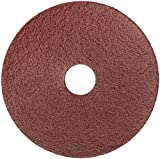 Norton Gemini Metalite F220 Abrasive Disc, Fiber Backing, Aluminum Oxide, 7/8'' Arbor, 4-1/2'' Diameter, Grit 60 (Pack of 25)