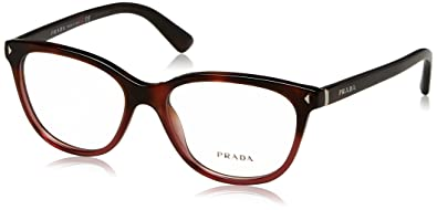 3d712b6ec38 Image Unavailable. Image not available for. Color  Prada JOURNAL PR14RV Eyeglass  Frames TWC1O1-54 - Red ...
