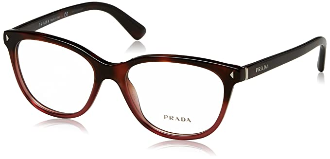 7596176dc9 Prada Journal Eyeglasses PR14RV TWC1O1 Red Havana Gradient 52 16 140
